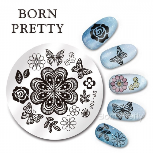 Born Pretty Plate # BP-105